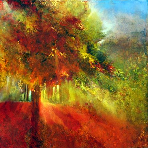 Annette Schmucker, Herbst, Ernte, Landschaft: Herbst, Gegenwartskunst, Expressionismus