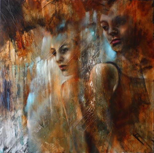 Annette Schmucker, Sometimes words have two meanings, Menschen, Menschen: Frau, Gegenwartskunst, Expressionismus