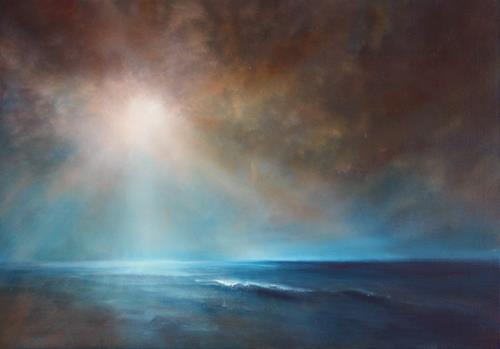 Annette Schmucker, Kraft und Stille, Landschaft: See/Meer, Landschaft: Strand, Gegenwartskunst, Expressionismus