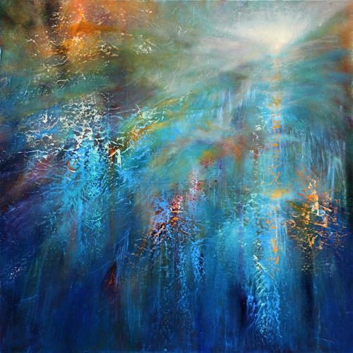 Annette Schmucker, Another blue morning, Abstraktes, Abstraktes, Gegenwartskunst