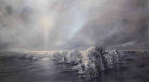 Annette Schmucker, Weitsicht, Landschaft, Landschaft: See/Meer, Gegenwartskunst, Expressionismus