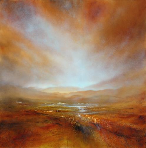 Annette Schmucker, Herbstliches Licht, Landschaft: Herbst, Natur: Erde, Neo-Impressionismus, Expressionismus