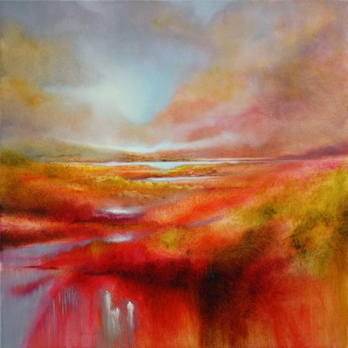 Annette Schmucker, Just let it be a perfect day, Landschaft: Berge, Landschaft: Frühling, Gegenwartskunst, Expressionismus