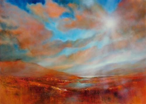 Annette Schmucker, Far away, Landschaft, Landschaft: Berge, Gegenwartskunst, Expressionismus