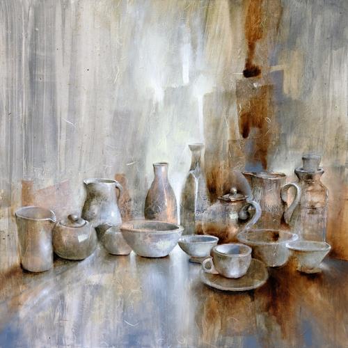 Annette Schmucker, Stillleben, Stilleben, Dekoratives, Gegenwartskunst, Expressionismus