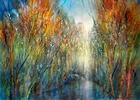 Annette-Schmucker-Landschaft-Herbst-Landschaft-See-Meer-Moderne-Impressionismus-Neo-Impressionismus