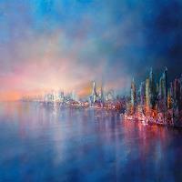 Annette-Schmucker-Landschaft-Landschaft-See-Meer-Moderne-Impressionismus-Neo-Impressionismus