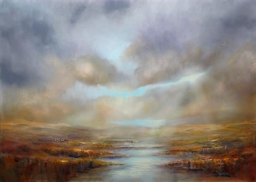 Annette Schmucker, Weite, Landschaft: See/Meer, Landschaft: Berge, Neo-Impressionismus, Expressionismus