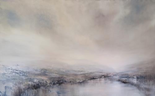 Annette Schmucker, Morgentau, Landschaft, Landschaft: See/Meer, Realismus, Expressionismus