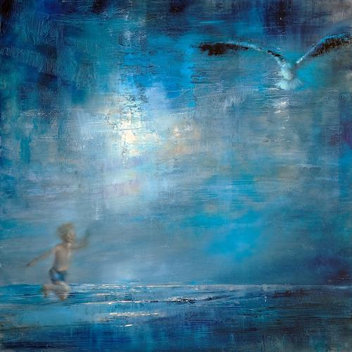 Annette Schmucker, Fliegen, Menschen: Kinder, Tiere: Luft, Neo-Expressionismus