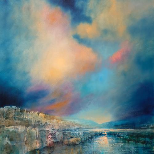 Annette Schmucker, Sanfte Stille, Landschaft: See/Meer, Landschaft: Ebene, Neo-Impressionismus, Expressionismus