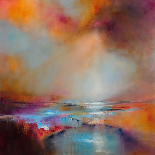 Annette Schmucker, Sonnenlicht, Landschaft: See/Meer, Landschaft: Berge, Gegenwartskunst, Expressionismus