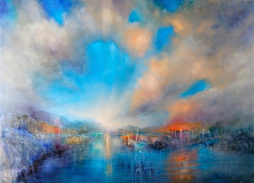 Annette Schmucker, Eröffnet, Landschaft: Berge, Landschaft: Strand, Gegenwartskunst, Expressionismus