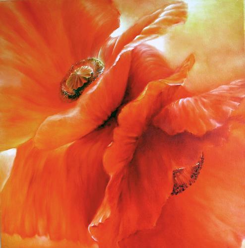 Annette Schmucker, Roter Mohn I, Pflanzen: Blumen, Gegenwartskunst, Expressionismus