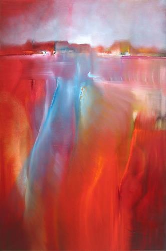 Annette Schmucker, Abendspaziergang, Abstraktes, Diverse Landschaften, Gegenwartskunst, Expressionismus