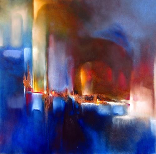 Annette Schmucker, Zwei Welten, Abstraktes, Gegenwartskunst, Expressionismus