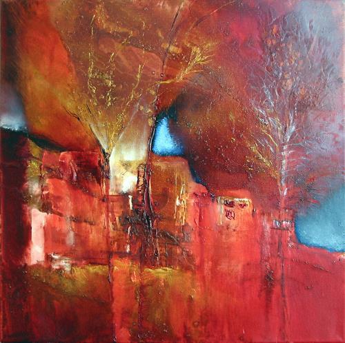 Annette Schmucker, Altes Dorf, Abstraktes, Diverse Landschaften, Gegenwartskunst