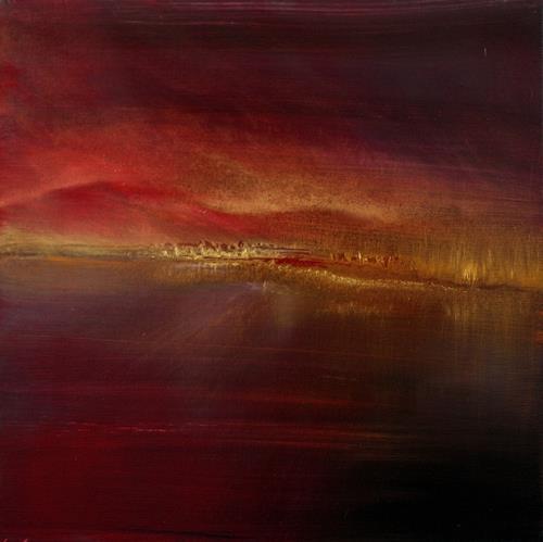 Annette Schmucker, Before dark, Landschaft: See/Meer, Romantik: Sonnenuntergang, Gegenwartskunst