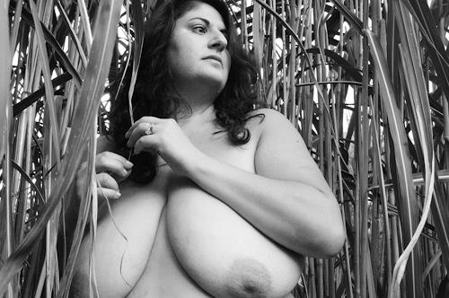 Berta A. Daniels, Wendy in the reeds, Akt/Erotik: Akt Frau, Menschen: Porträt, Abstrakter Expressionismus