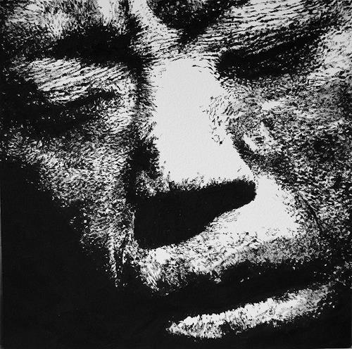 Christian Mueller, #090, Menschen: Porträt, Menschen: Gesichter, Moderne, Abstrakter Expressionismus