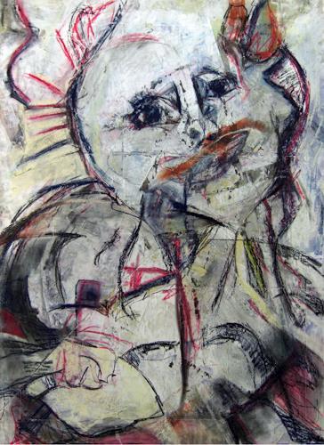 Annette Kunow, Mutter mit Kind, Abstraktes, Neo-Expressionismus