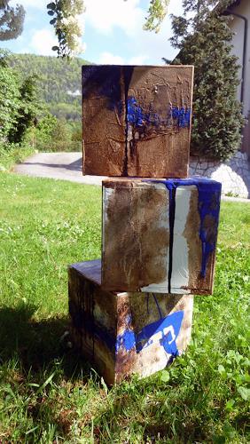 Renu G., Cubes, Abstraktes, Gegenwartskunst