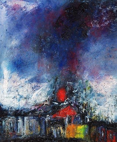 Renu G., Sturm / Storm, Abstraktes, Dekoratives, Moderne