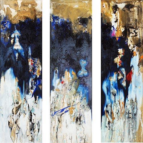 Renu G., Musica (3-teilig / 3-pieces), Abstraktes, Dekoratives, Moderne