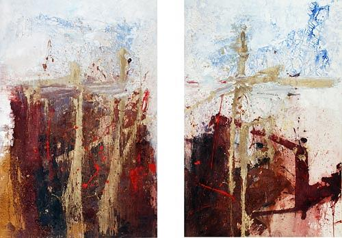 Renu G., (2-teilig / 2-pieces), Abstraktes, Dekoratives, Moderne