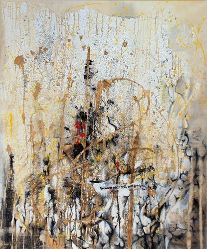 Renu G., Wenn er nicht will, so will er nicht, Bewegung, Dekoratives, Moderne, Abstrakter Expressionismus