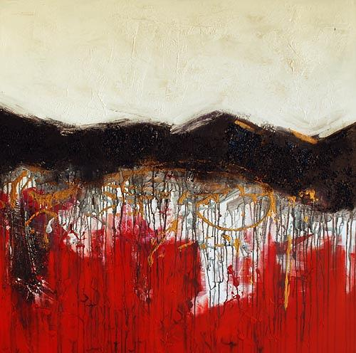 Renu G., Secret Mountain II, Landschaft: Berge, Dekoratives, Moderne
