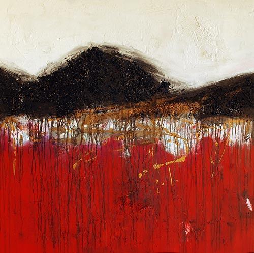 Renu G., Secret Mountain I, Landschaft: Berge, Dekoratives, Moderne