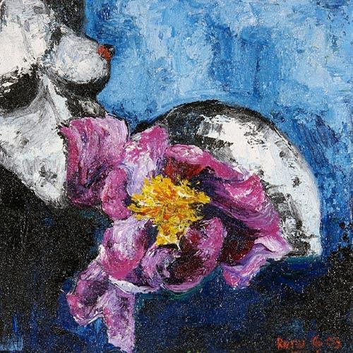 Renu G., Flowerpower, Akt/Erotik: Akt Frau, Pflanzen: Blumen, Moderne