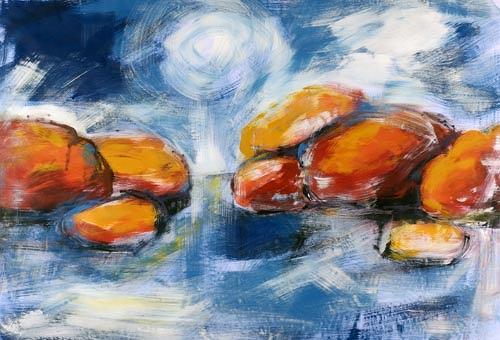 Renu G., on the Rocks, Landschaft: See/Meer, Dekoratives, Moderne