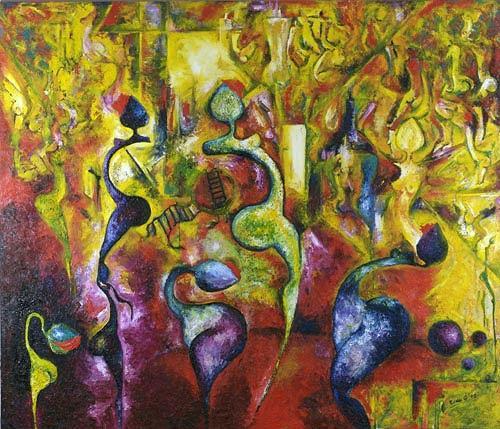 Renu G., Fantasy, Abstraktes, Menschen: Gruppe, Moderne