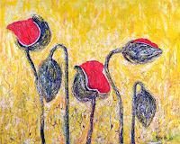 Renu-G-Pflanzen-Blumen-Dekoratives-Gegenwartskunst--Gegenwartskunst-