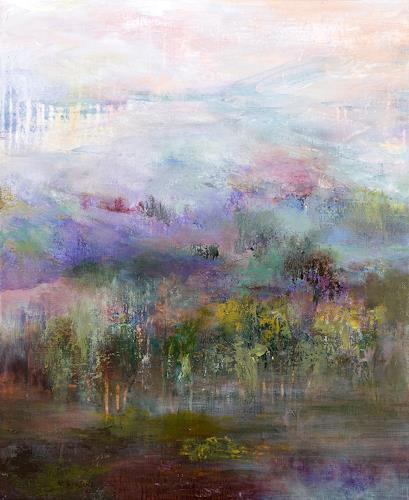 Rikka AYASAKI, In Switzerland, Fantasie, Landschaft, Gegenwartskunst, Expressionismus