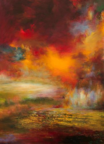 Rikka AYASAKI, Jubilant harvesting 7027, Abstraktes, Ernte, Gegenwartskunst, Expressionismus