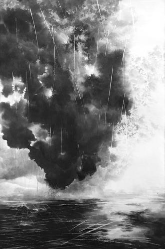 Rikka AYASAKI, Rain in a big city 26, Landschaft, Gefühle, Symbolismus, Abstrakter Expressionismus