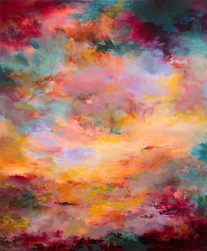 Rikka AYASAKI, Sunset 117, Landschaft, Fantasie, Impressionismus, Expressionismus