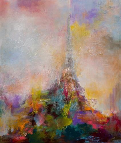 Rikka AYASAKI, One day Paris(#7149), Fantasie, Abstraktes, Symbolismus, Expressionismus