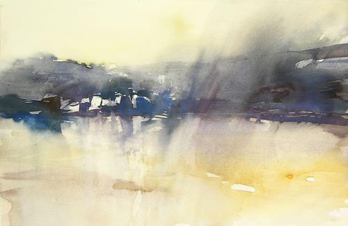 Christina Kläfiger, Nebel in der Bucht, Landschaft: Strand, Landschaft: See/Meer