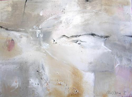 Christina Kläfiger, Winterkeim, Abstraktes, Abstrakte Kunst