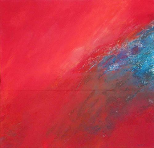 Christina Kläfiger, Fliehend, Abstraktes, Gegenwartskunst