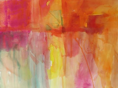 Christina Kläfiger, Spuren I, Bewegung, Abstraktes, Gegenwartskunst