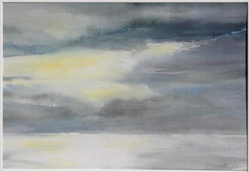 Christina Kläfiger, Träumend, Landschaft: See/Meer, Gegenwartskunst