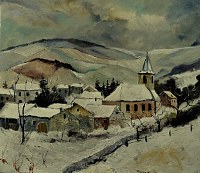 p. ledent, Village in the snow