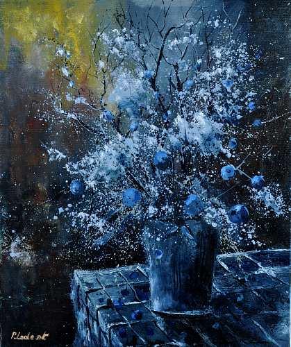 pol ledent, blue bunch, Stilleben, Postimpressionismus, Abstrakter Expressionismus