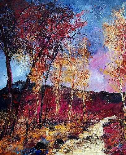 pol ledent, autumn 670808, Landschaft: Herbst, Impressionismus, Expressionismus