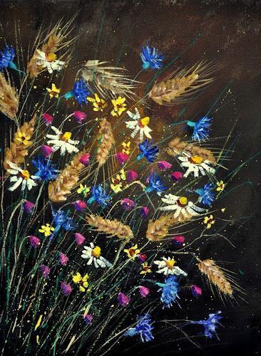 pol ledent, Wild flowers 452150, Pflanzen: Blumen, Gegenwartskunst, Expressionismus